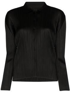 Pleats Please Issey Miyake плиссированная рубашка