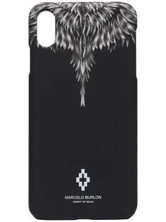 MARCELO BURLON COUNTY OF MILAN чехол для iPhone XS Max с принтом Wings