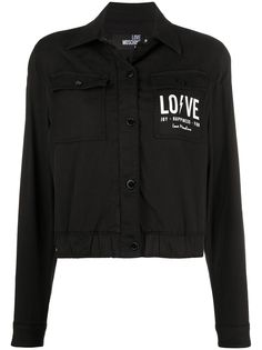 Love Moschino укороченная джинсовая куртка с логотипом