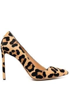 Francesco Russo туфли-лодочки с леопардовым принтом