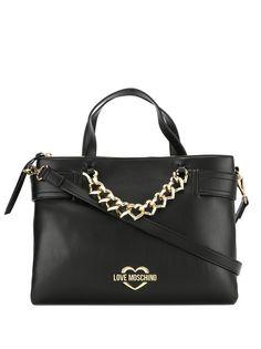 Love Moschino chain-detail tote bag