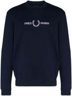 Fred Perry толстовка с логотипом