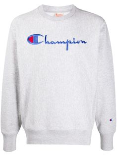 Champion толстовка с круглым вырезом и вышитым логотипом