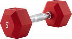 Гантель гексагональная обрезиненная RZR, 5 кг