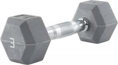 Гантель гексагональная обрезиненная RZR, 3 кг