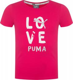 Футболка для девочек Puma Alpha, размер 128
