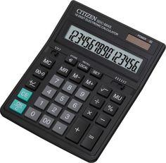 Калькулятор Citizen SDC-664S Black - двойное питание