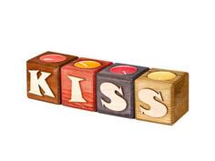 Набор подсвечников со свечами Qrona Kiss Mix CNDL-04-03