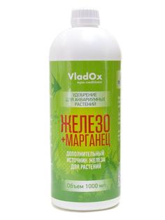 Средство Vladox Железо + марганец 83129 - Высокоэффективное удобрение для устранения дефицита железа в аквариуме с живыми растениями 1000ml