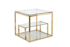 Столик журнальный (garda decor) золотой 60x55x60 см.