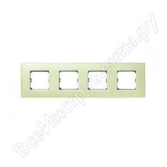 Декоративная рамка simon 4 поста, +суппорт, s27 neos, матовый, лимонный 27774-61