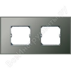 Декоративная рамка simon 2 поста, +суппорт, s27 neos, матовый, серый 27772-65