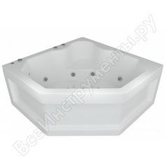Угловая ванна aquatek лира вклеенный каркас 00000001120