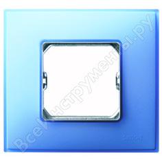 Декоративная рамка simon 1 пост, +суппорт, s27 neos, матовый, бирюзовый 27771-63