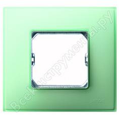 Декоративная рамка simon 1 пост, +суппорт, s27 neos, матовый, изумрудный 27771-62