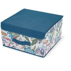 Кофр для хранения Hausmann 30х30х16 см, синий/принт