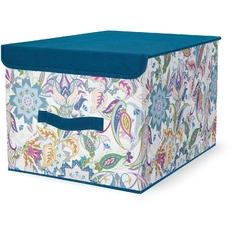 Кофр для хранения Hausmann 30х40х25 см, синий/принт