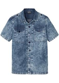 Рубашки с коротким рукавом Джинсовая рубашка Bonprix