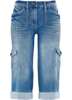Джинсовые шорты Карго-джинсы-стретч капри Bonprix