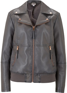 Косухи Куртка из искусственной кожи c эффектом потёртости Bonprix