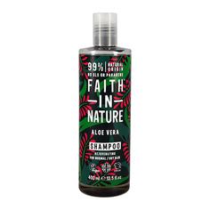 Шампунь для волос FAITH IN NATURE увлажняющий с соком алоэ веры для нормальных и сухих волос 400 мл