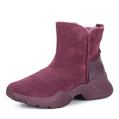 Ботинки Бордовые ботинки из велюра на утолщенной подошве Tamaris