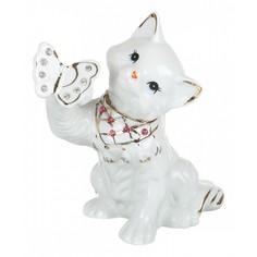 Статуэтка (15x9x14 см) Кошка с бабочкой 149-292