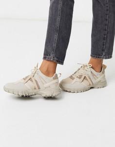 Бежевые кроссовки на массивной подошве ASOS DESIGN-Мульти