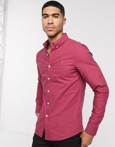 Зауженная рубашка с длинными рукавами Farah-Красный