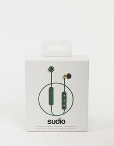 Темно-зеленые беспроводные наушники Sudio-Бесцветный