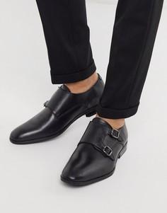 Черные кожаные монки Silver Street-Черный