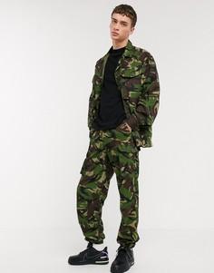 Зеленые брюки с камуфляжным принтом в винтажном стиле Milk It-Зеленый