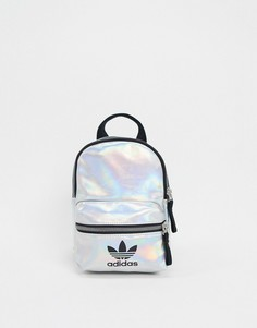 Серебристый мини-рюкзак с логотипом-трилистником adidas Originals-Серебряный