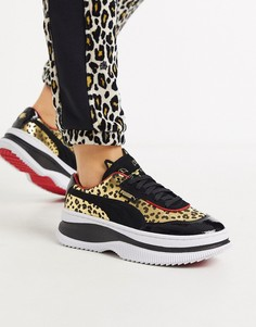 Черные кроссовки на платформе Puma x Charlotte Olympia Deva-Черный
