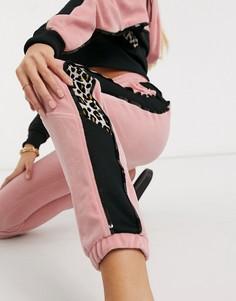 Розовые спортивные брюки Рuma x Charlotte Olympia-Черный Puma