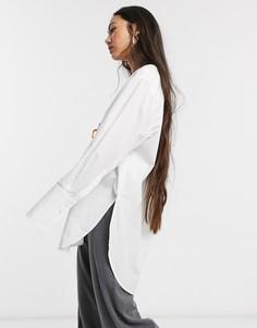 Белая oversized-рубашка Selected Femme-Белый