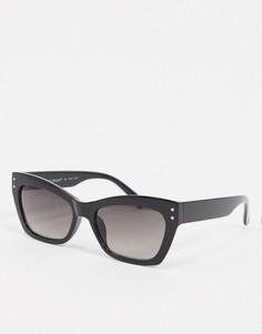 Черные солнцезащитные очки в квадратной оправе AJ Morgan-Черный