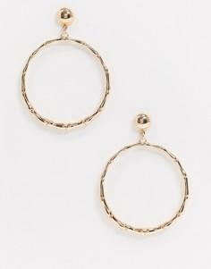 Золотистые серьги-кольца ALDO-Золотой