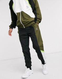 Джоггеры цвета хаки Puma TFS-Зеленый