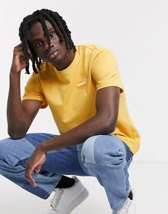Золотистая абрикосово-желтая футболка с логотипом Levis Youth-Бежевый