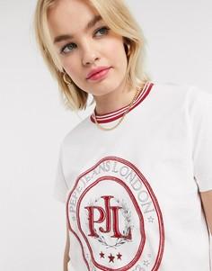 Белая футболка с логотипом Pepe-Белый