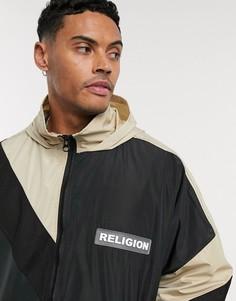 Черная легкая oversized-куртка с капюшоном Religion-Черный