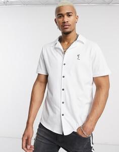 Белая трикотажная рубашка с отложным воротником Religion-Белый