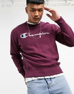 Фиолетовый свитшот с круглым вырезом Champion