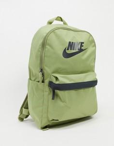 Рюкзак оливкового цвета Nike Heritage-Зеленый