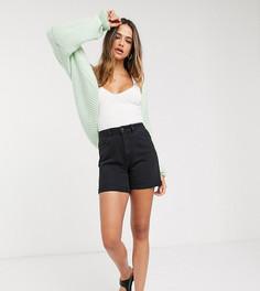 Черные джинсовые шорты в винтажном стиле Vero Moda Tall-Черный