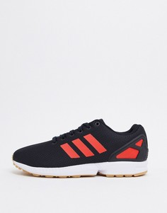Черно-красные кроссовки adidas Originals ZX Flux-Черный