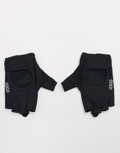 Уплотненные перчатки для тренажерного зала с открытыми пальцами и регулируемым ремешком ASOS 4505-Черный