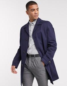 Хлопковое пальто Tommy Hilfiger-Темно-синий