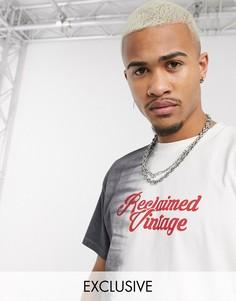 Oversize-футболка с логотипом Reclaimed Vintage-Серый